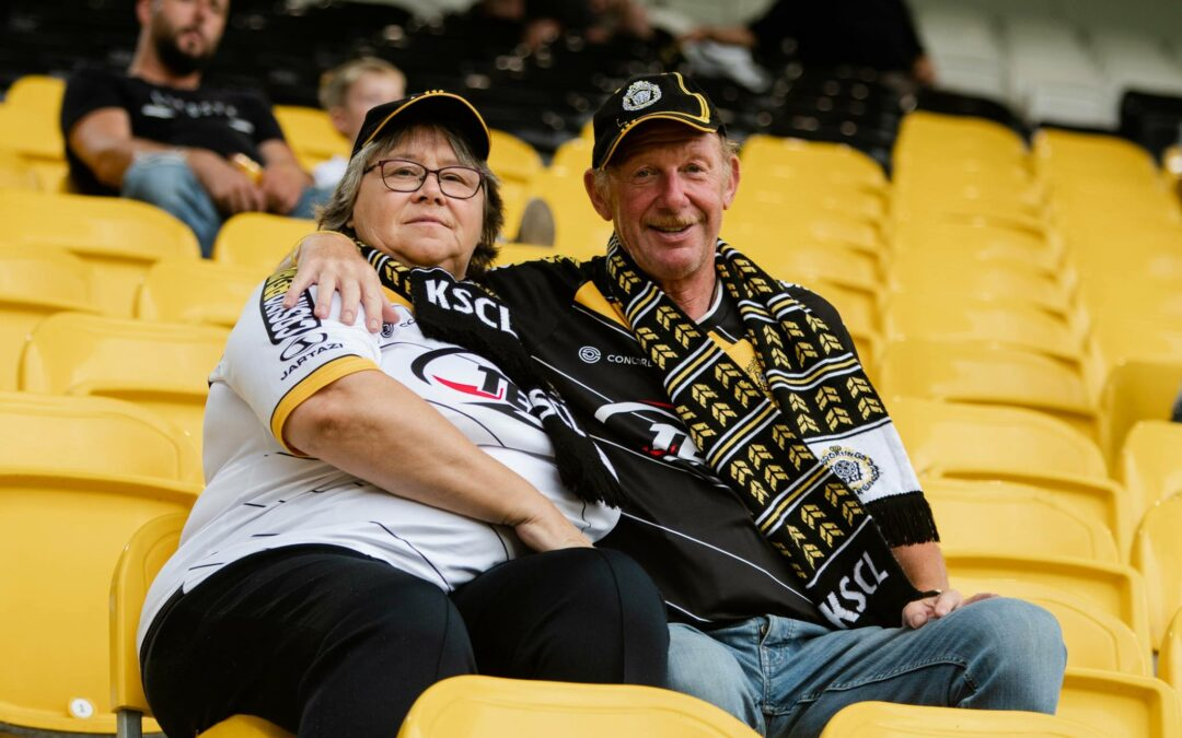 Fans bij voetbalwedstrijden